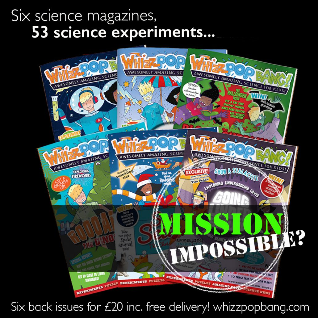 Bundle of six Whizz Pop Bang science magazines