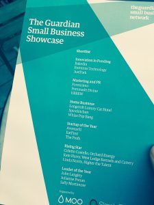 Whizz Pop Bang at The Guardian Small Business Showcase Awards