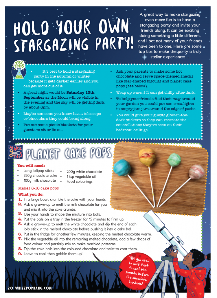 Whizz Pop Bang science party ideas