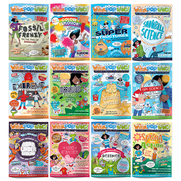 Whizz Pop Bang science magazine for kids issues six to eighteen