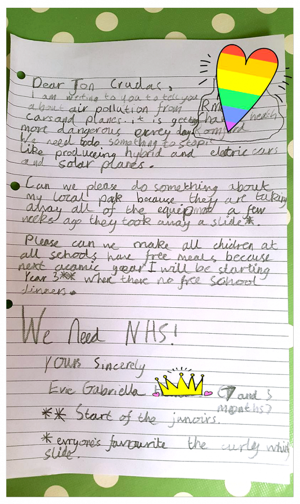 Whizz Pop Bang subscriber letter to MP