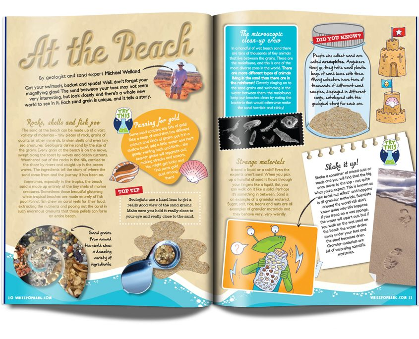 Whizz Pop Bang Issue 12 at the beach article by Michael Welland