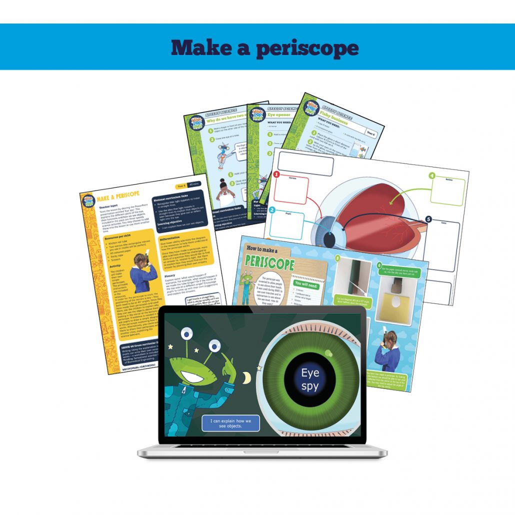 Make a periscope science resource pack from Whizz Pop Bang