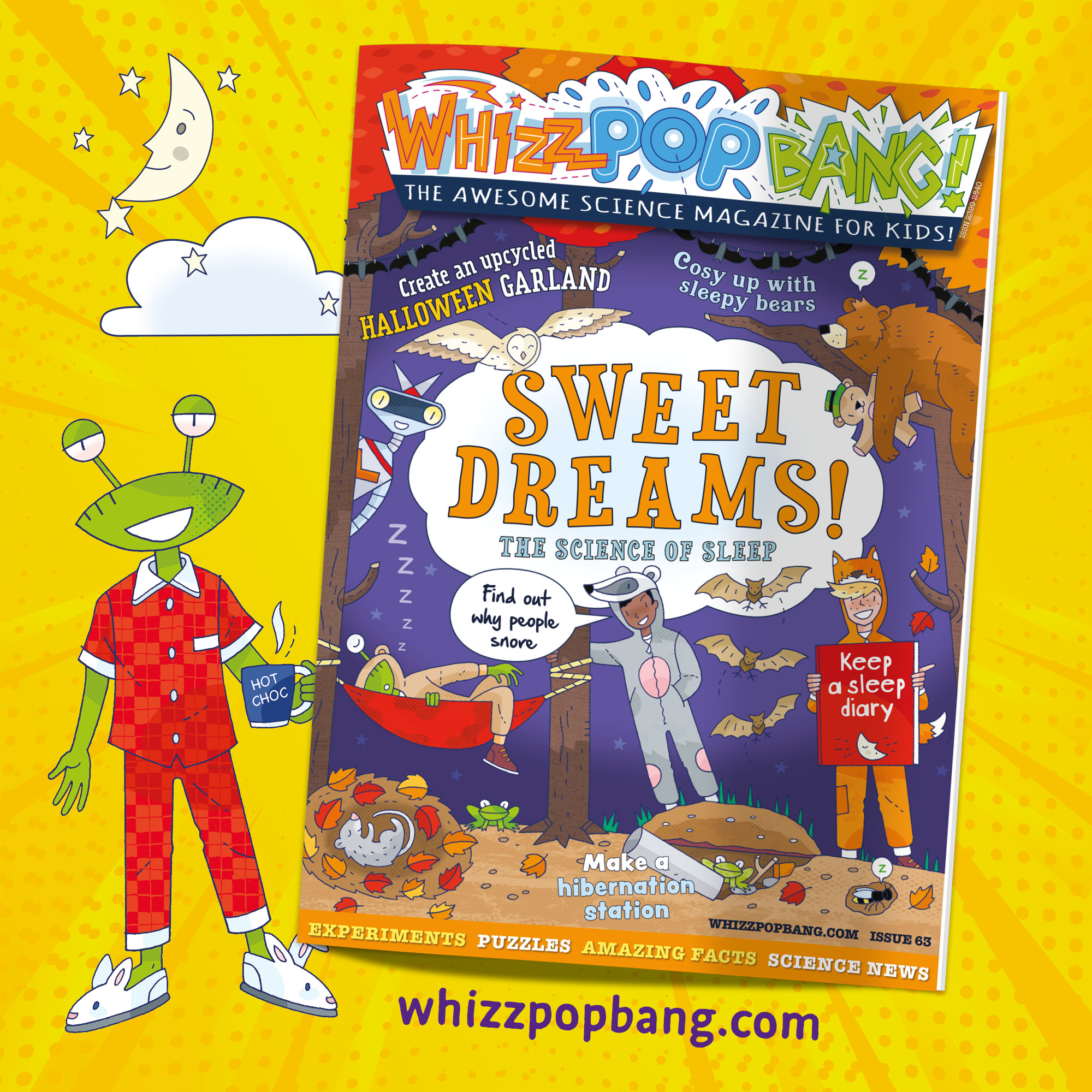Whizz Pop Bang: Sweet Dreams issue is all about the science of sleep