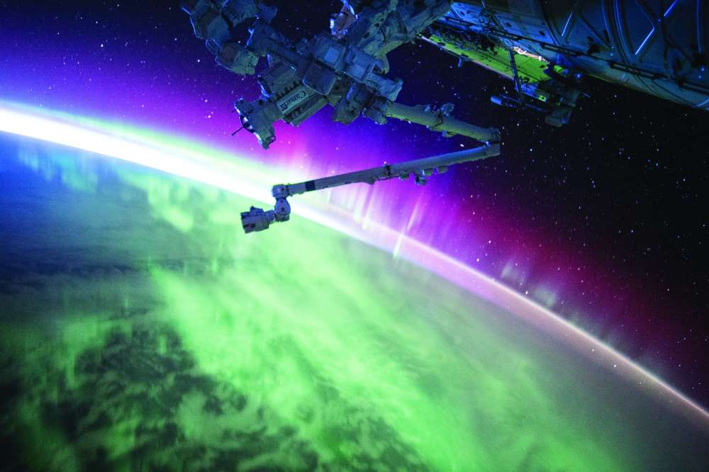 Space: Aurora from ISS
