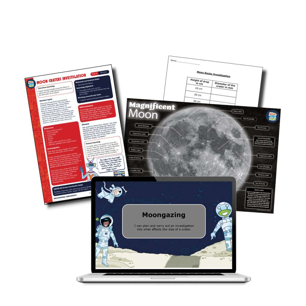 Moon craters investigation