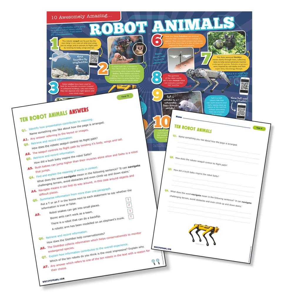 Ten robot animals