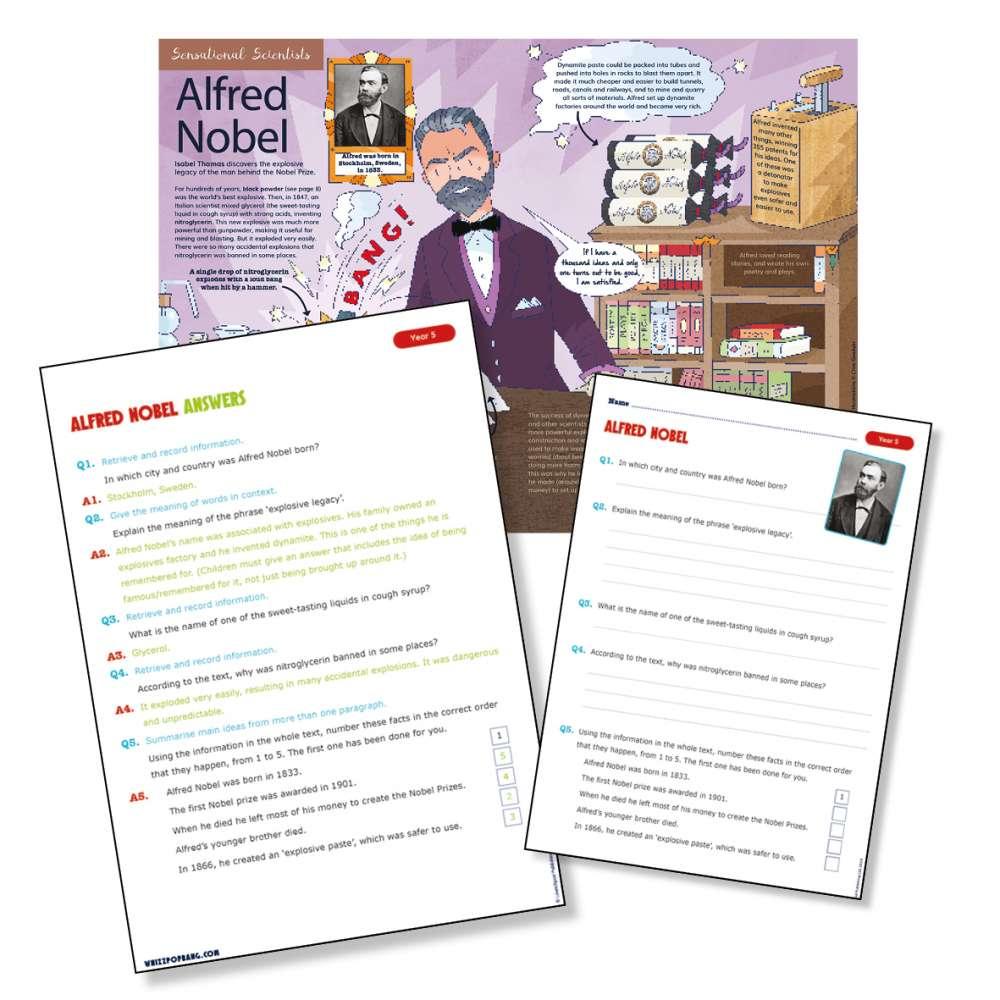 Historical scientist Alfred Nobel
