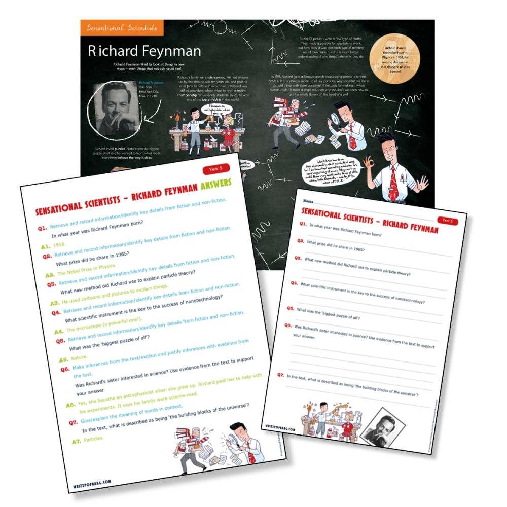 Historical scientist Richard Feynman