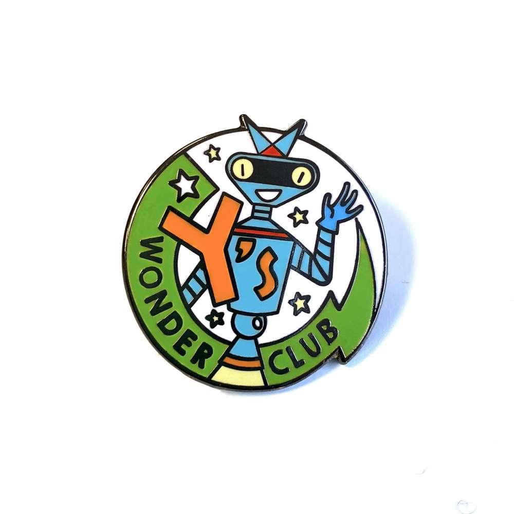 Y's Wonder Club enamel pin badge image 1