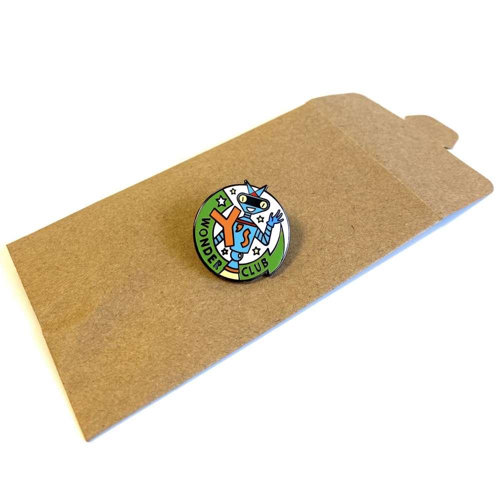 Y's Wonder Club enamel pin badge image 2