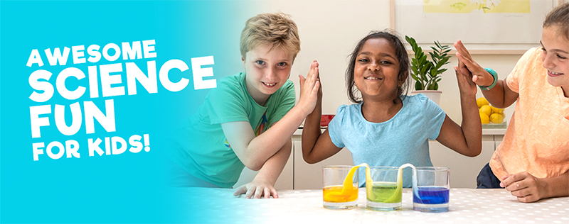 kids doing science experiment with water