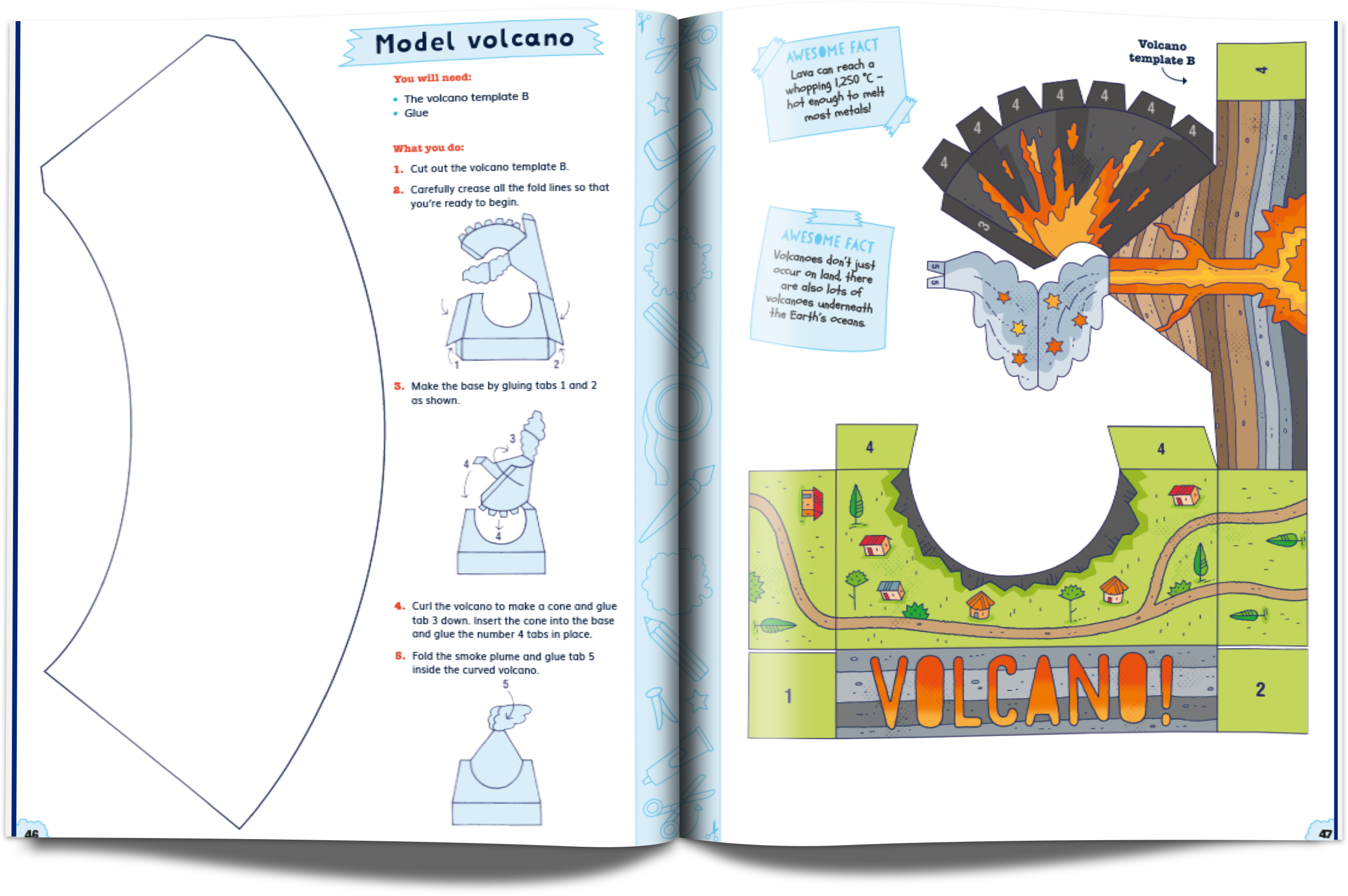 Snip-Out Science book spread