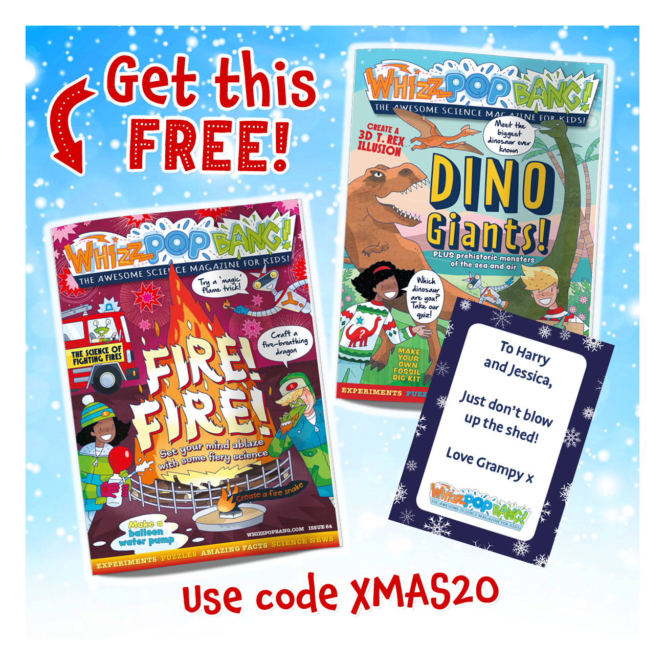 Free science magazine and gift card