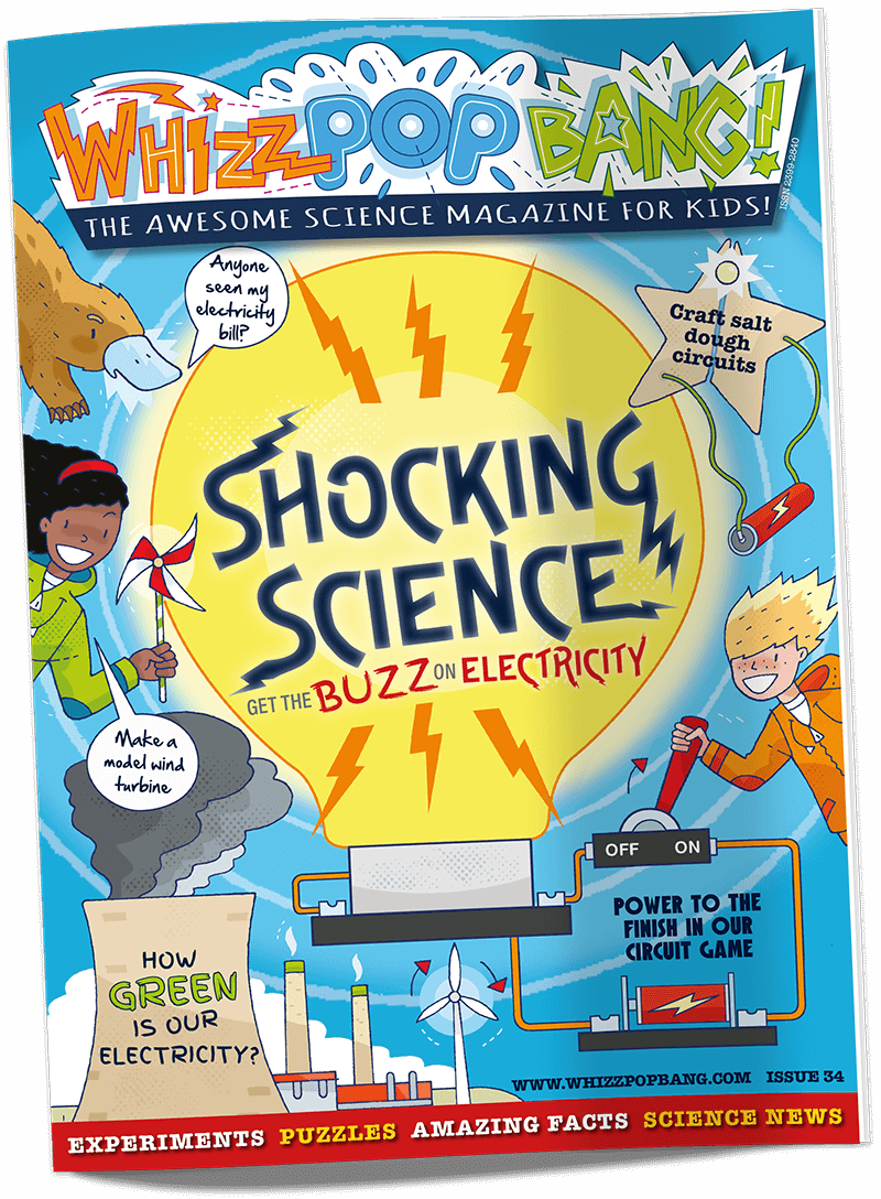 Whizz Pop Bang science magazine cover